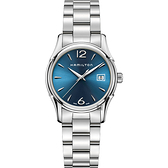 Hamilton 漢米爾頓 JAZZMASTER 爵士石英藍調女錶-34mm H32351145