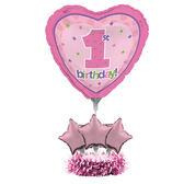 氣球擺飾組(不含氣)-1歲女孩