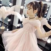 女童洋裝夏裝2021新款兒童愛莎洋氣公主裙小女孩禮服蓬蓬紗裙子 幸福第一站