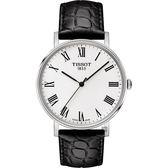 TISSOT 天梭 Everytime 羅馬經典手錶-銀x黑/38mm T1094101603301