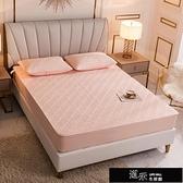 純棉床笠單件夾棉加厚席夢思床墊保護罩防滑固定床套床罩乳膠墊套 【全館免運】