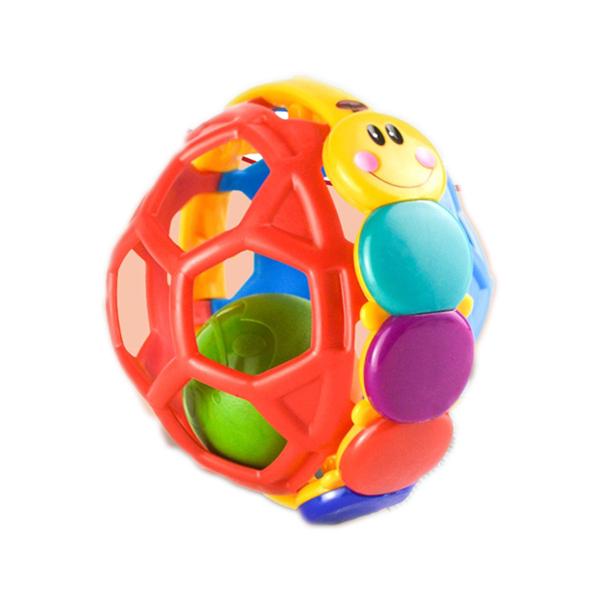 美國愛因斯坦搖鈴球玩具-寶寶抓握牙膠健身球-JoyBaby