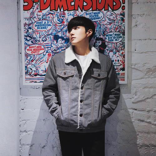 PocoPlus 冬季棉衣加絨牛仔外套男羊羔毛韓版寬鬆加厚夾克青年棉服男上衣潮   C351