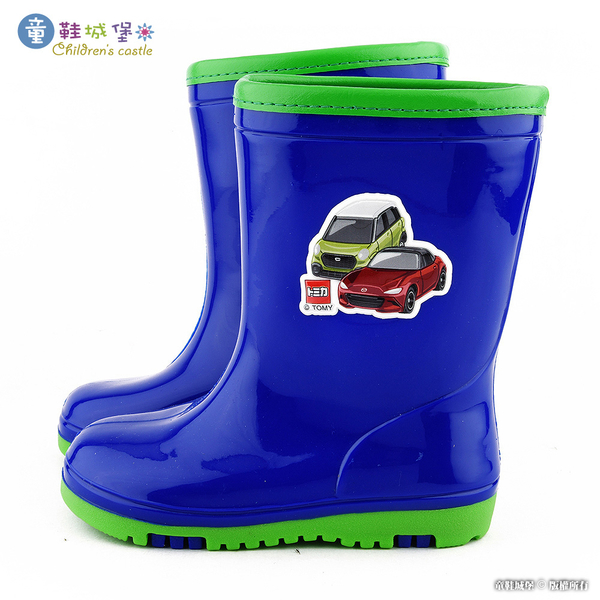 童鞋城堡-TOMICA多美小汽車 雙色大底雨靴 TM7738 藍