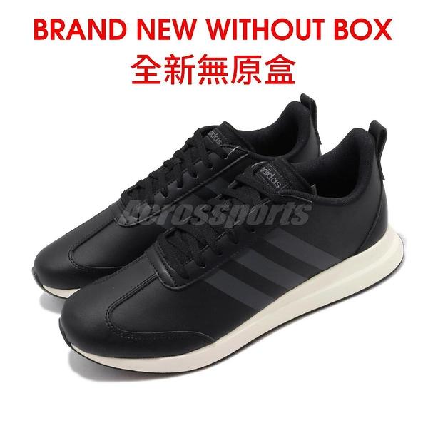 【US11.5-NG出清】adidas 休閒鞋 Run60S 黑 白 男鞋 全新無原盒 運動鞋 【ACS】