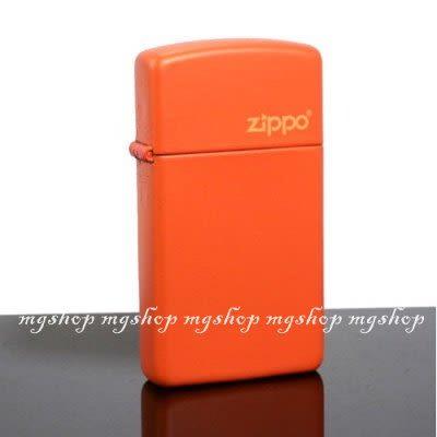 正版原裝 ZIPPO打火機 LOGO字樣-橘烤漆1631ZL(窄)