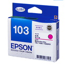 T103350 EPSON 原廠 No.103 高印量XL紅色墨水匣適用 Stylus Office T30/T40W/T1100/TX510FN/TX550W/TX600FW/TX610FW