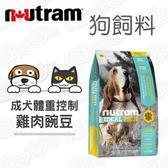 Nutram 紐頓 專業理想系列 I18體重控制犬雞肉碗豆 2.72kg X2