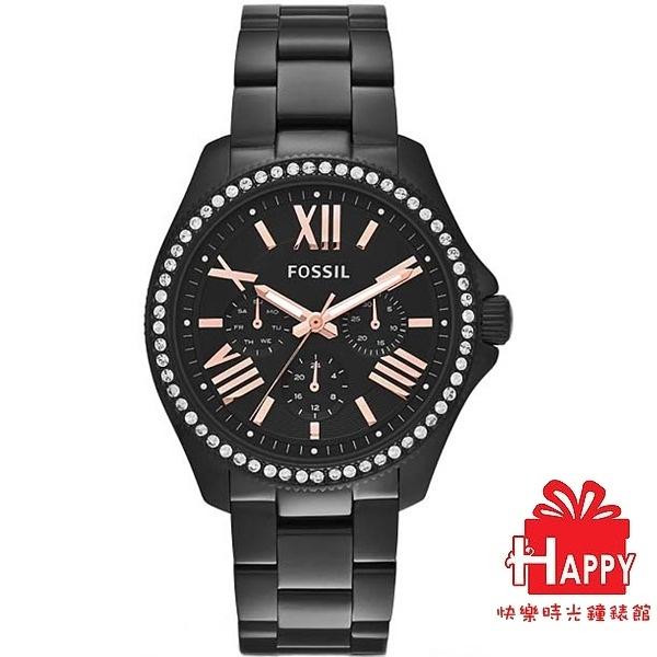 美國潮流☸FOSSIL☸摩登晶鑽閃耀三眼全日曆腕錶   AM4522  -黑