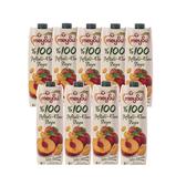 (組)土耳其meysu 100%水蜜桃蘋果汁1L 9入組