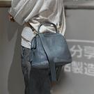 真皮側背包-簡約柔軟植鞣牛皮女手提包2色...
