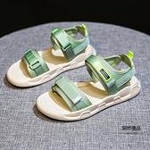 沙灘涼鞋子女夏季舒適軟底休閒平底孕婦【聚物優品】
