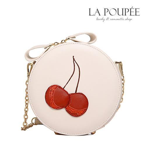 甜蜜立體小櫻桃刺繡小圓包