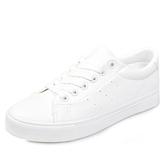 小白鞋皮面小白鞋女春款百搭基礎平底透氣白鞋學生休閒板鞋春季促銷好物