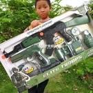 玩具槍 兒童玩具槍AK47沖鋒槍手槍左輪吃雞慣性槍耐用全套裝備男女孩送禮