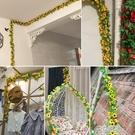 仿真太陽花藤條向日葵花藤假花藤蔓室內壁掛空調管道遮擋裝飾花條 3C優購