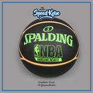 SPALDING 籃球 NBA Highlighter 五芒星 綠橘 室外 7號球 SPA83199【SP】