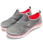 Skechers 訓練鞋 Flex Appeal 2.0 寬楦設計 灰 粉紅 女鞋 運動鞋 交叉綁帶【PUMP306】 12752WCCCL