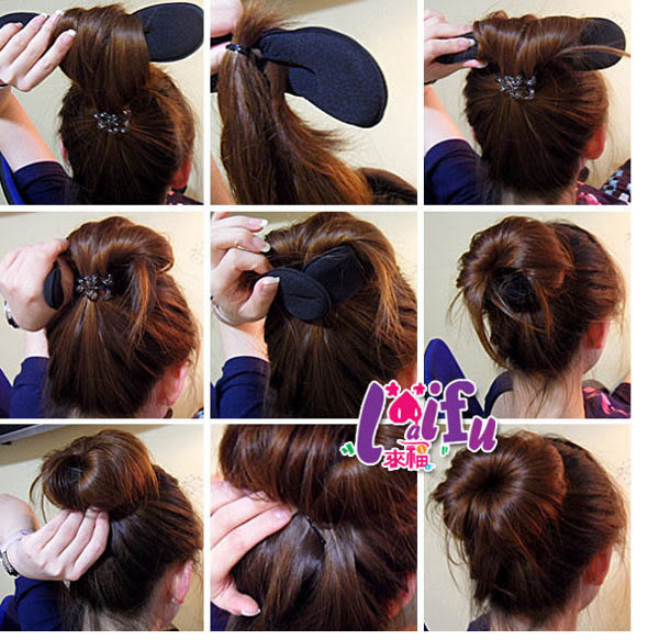 ★草魚妹★H273海綿寶寶盤髮器神奇盤髮帶丸子頭包子頭,售價39元