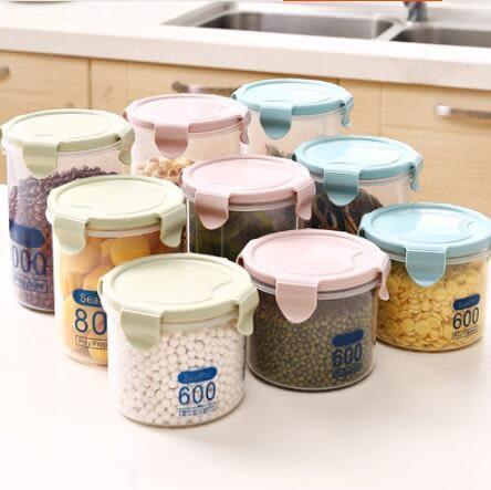 透明塑料密封罐奶粉罐食品罐子 廚房五谷雜糧收納盒6件套 迎中秋全館88折