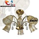 【燈巢1+1】燈具。Led居家照明  桌立燈  工廠直營批發  新美式演繹  奧德莎半吸頂玻璃5燈 03066274