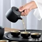 茶杯套裝家用功夫茶具簡約現代客廳辦公室整套復古黑陶瓷茶盤日式CL337【Sweet家居】