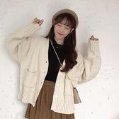 2019春秋新款開衫外套女復古港味上衣寬鬆韓版chic學生針織衫毛衣 米希美衣