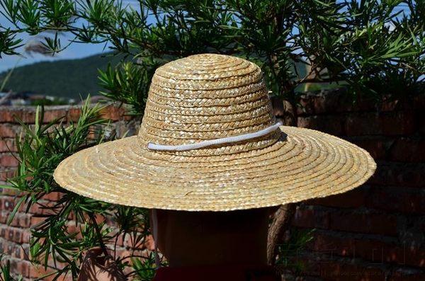 『618好康又一發』50號老式麥稈稻草帽農民42CM草帽