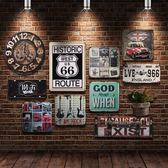 復古工業風酒吧墻面鐵皮畫奶茶店墻壁餐廳墻面裝飾品創意掛件墻飾【星時代家居】