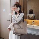 包包女2020新款潮韓版原宿ulzzang百搭簡約時尚大容量手提帆布包 夢幻小鎮