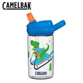 【愛吾兒2020冬季限量款】美國 CAMELBAK eddy+兒童吸管運動水瓶 400ml 雪橇恐龍 (CB2452104141)