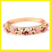景泰藍 民族風 宮廷彩繪水鉆手鐲鑲鉆開口手環時尚飾品女