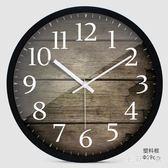 歐式創意木大號靜音掛鐘現代時尚客廳個性臥室石英時鐘表 ys7322『毛菇小象』