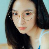 韓系時尚復古潮流圓框眼鏡-ASLLY濾藍光眼鏡-羅浮宮幻想曲