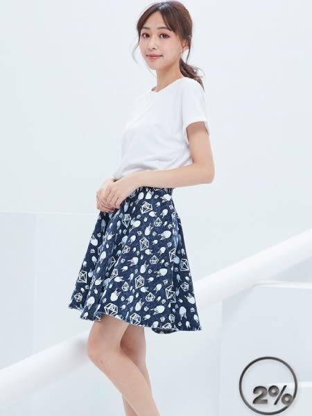 【2%】2%滿版寶石牛仔圓裙