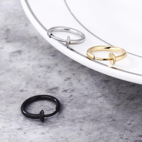 [Z-MO鈦鋼屋]316L鈦鋼材質/夾式圓環多用途特殊環/好友禮物推薦/簡約中性風格/單個價【ECS107】