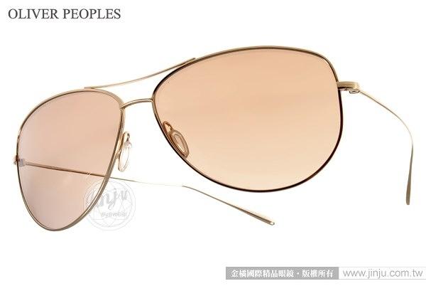 OLIVER PEOPLES 太陽眼鏡 KEMPNER 50358K (金) 個性經典純鈦系列飛行款 # 金橘眼鏡