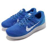 【六折特賣】Nike 慢跑鞋 Lunarglide 9 九代 藍 灰 透氣網布 運動鞋 男鞋【PUMP306】 904715-405