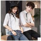 2017新款韓版修身五分袖襯衫LVV432【kikikoko】