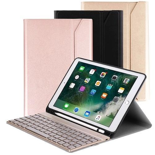 Powerway For iPad Air3/Pro10.5吋專用尊榮型三代筆槽分離式鋁合金超薄藍牙鍵盤/皮套/注音印刷