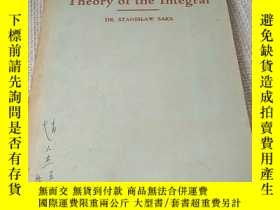 二手書博民逛書店【數學類:1937年英文原版,附1959年購書發票】Theory罕見of the Integral 積分論Y1