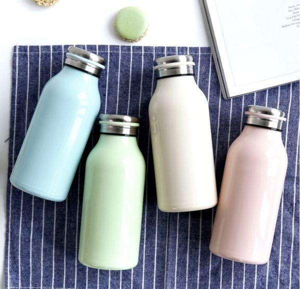 保溫瓶【KCW052】日本熱銷不鏽鋼牛奶保溫瓶350ml 大容量 牛奶瓶 保溫瓶 情人節禮物 水瓶-123ok