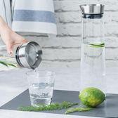 大容量冷水壺家用大號創意耐熱耐高溫防爆日本玻璃果汁涼水杯套裝