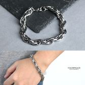 手環 鋼製日系橢圓環扣環手鍊NA489