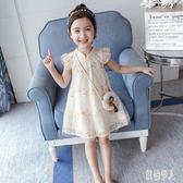 女童洋裝漢服夏裝連身裙2019新款洋氣中國風兒童裝夏天旗袍裙子8歲9公主裙 PA4772『紅袖伊人』