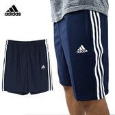 Adidas ESS COWVN 男 深藍 白 排汗透氣運動短褲 愛迪達 三條線 climalite 運動褲 BK7478