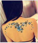 紋身貼 刺青貼紙 腰部紋身貼 刺青貼 刺青紋身 防水 仿真 身體彩繪 復古 韓國紋身 貼紙 8065