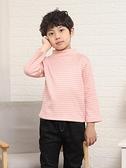 果木熊兒童半高領打底衫純棉加絨加厚男女童保暖內衣秋冬t恤內搭 貝芙莉