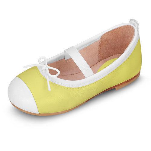 童鞋 / 娃娃鞋 澳洲Bloch芭蕾舞鞋 │白邊蝴蝶結芭蕾舞鞋-黃 #BT1240 PSS