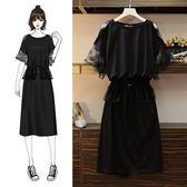 特賣款不退換大尺碼XL-4XL休閒寬鬆洋裝連身裙大碼女裝胖妹妹連身裙4F044-829